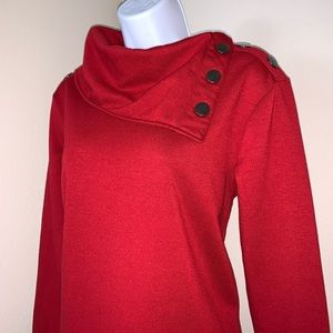 The Sweatshirt Project with Button Folded Collar